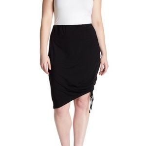 SUSINA Ruched Side Jersey Pencil Skirt